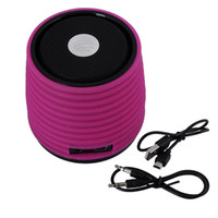 Wholesale Hot Fashionable Hurricane Mini Wireless Degree Sound Bluetooth Speaker for iPhone iPad Smart Phone Rosy Color