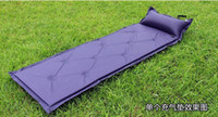 Wholesale Automatic Inflatable Mat Camping mat tent sleeping bed air mattresses Inflatable pillow blue style g