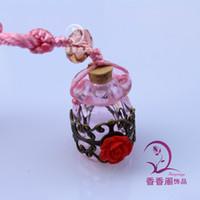 Wholesale Murano Glass Car Aroma Freshener perfume Aroma vial pendant fragrance jewelry pendant