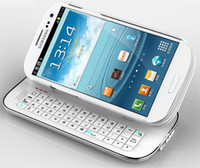 Wholesale Sliding Wireless Bluetooth Keyboard Case Cover for Samsung Galaxy S3 SIII i9300 with Retail Package