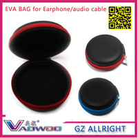 Wholesale pieces High Quality eva Hard Case box Bag For Earphone Headphone Earbuds