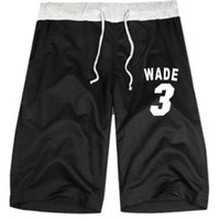 Wholesale basketball shorts heat team half pant wade print shorts loose casual short pants sport half pants dance pants color
