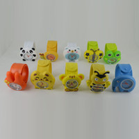 Wholesale 100pcs Silicone Animal Slap Snap Watch Multi styles Cartoon Children Wristwatch Candy Gift Watch