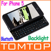 Wholesale thin Slide out Wireless Bluetooth mini Keyboard amp hard Case Cover for iPhone PA1439