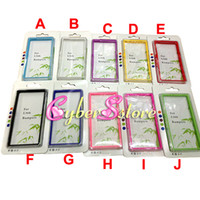For Sony Ericsson   150pcs New Dual Color Bumper Frame Clear Crystal Transparent PC + TPU Gel Case Cover for Sony Xperia Z L36i L36h C6603