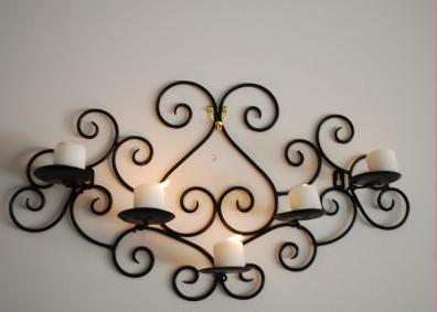Candle Holder Wall Decor Wrought Iron Decor | Decorating Ideas