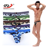 Seamless t back - Newest Hot Men Thongs Underwear Camouflage G string T back Soft Modal Best Cool Sports Underpants Army Design Brifes Underwear W7105
