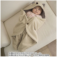 Wholesale Baby Blanket Warm Sleeping Bag Cloak Newborn Hold The Blanket Velveteen