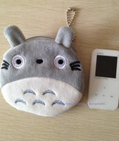 Wholesale 20PCS JAPAN TOTORO Cat Plush Coin Purses amp Wallet Pouch Case BAG Pendant Bags Pouch Beauty Cosmetics Case Holder BAG Handbag