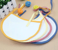 Wholesale Solid color laciness cotton waterproof bib bibs bib baby products