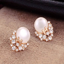 Opal Cat Stud Earrings Cute Bowknot Smile Cate Gem Pearl Earrings Girl Ear Stud wedding stud earrings free shipping