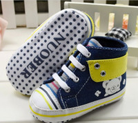 Wholesale 10 off Teddy Bear denim blue baby shoes baby shoes toddler shoes shoes sale discount shoes china shoes pairs