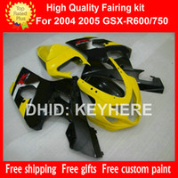 ABS Plastic fairing kit for SUZUKI GSX- R 600 750 04 05 GSX R...