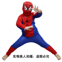 halloween spider - Hot Sale with tracking number Halloween costume party Spiderman clothing clothes child kids Spider Man suit