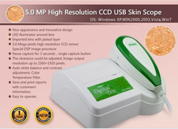 Wholesale 5 MP High Resolution Digital CCD USB Skin Analysis Skin Analyzer Skinscope Skin tester Skin Analysis System U