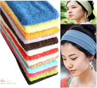 Wholesale Yoga ribbon Recreational Sports convenient flat hair band turban headdress hair accessories hair band headband