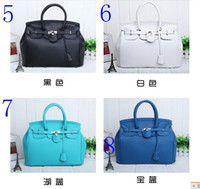 Wholesale New Korean Elegant Vintage Womens Lady Celebrity PU Leather Totes Handbags Shoulder Hand Bag with Lock