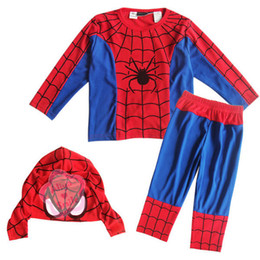 Wholesale Boy Baby Party Halloween Costume Clothes Kid Spider Man Suit S M L Years Old