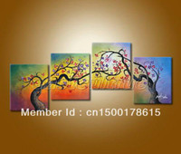 Wholesale Hand Painted Beautiful Landscape Floral Flowers Oil Paintings On Canvas