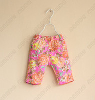 Wholesale New Summer Gymboree Kids Girls Floral Printed Heart Pocket Denim Jeans Pants Child Tights Children s Clothing