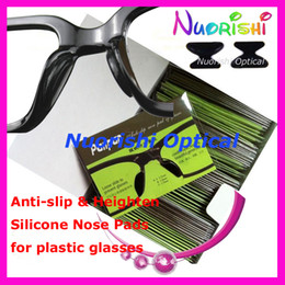 Wholesale T2000 clear color or black anti slip silicone nose pads for plastic glasses heighten nose pads for sunglasses
