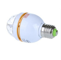 Wholesale Retail W E27 RGB Full Color LED Crystal Stage Light Voice activated Rotating Stage Light DJ Lamp Light Bulb