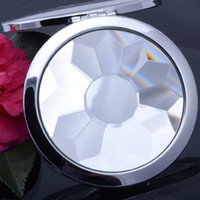 Wholesale Shiny Round Shape Makeup Cosmetic Compact Mirror Double Sided Aluminum Alloy Cosmetic Magnifying Mirrors