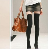 Wholesale Black Sexy Lingerie Stockings Knit Thigh Knee High Silk Sock Legging HOT
