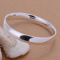 Wholesale sterling silver male Female Any Size bracelet bangle B169 Gift box Free