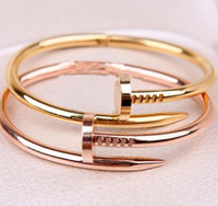 Wholesale Bangle fashion personality nail bracelet European and American style cheap jewelry