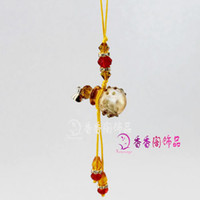 Wholesale Murano Glass Perfume Cellphone Straps Baroque Ball aromatherapy pendant aromatherapy oil diffuser