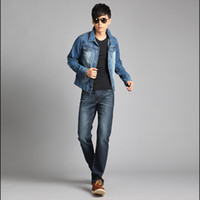 Wholesale 2013 blue Jean jacket cowboy coat men s clothes short weight cowboy jacket male autumn Demin jacket long sleeve causal jacket