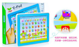 Wholesale Wohlesale Y Pad Spanish Touch Learning Machine Pink and Blue Mixed Music and Led Light