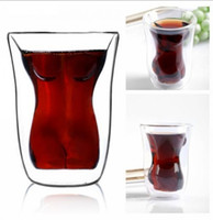 Wine Glass beautiful wine glasses - 160 ml capacity sexy Beautiful Heat resistant Creative Cups Double cup Glass Of Red Wine Crystal Glasses