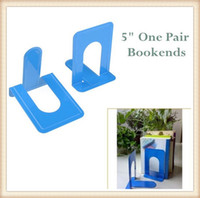 Wholesale Blue Office Home Desk Bookends Solid Metal quot High One Pair of Bookends Office Supplies