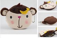 PHOTO Animal Print Plush + Cotton Plush Coin Purses & Wallet Pouch Case BAG; Pendant Bags Pouch Beauty Cosmetics Case Holder BAG Handbag; 20PCS Banana Monkey