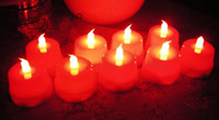 Wholesale 500pcs LED Smokeless Flickering Battery Candles Flameless LED teaLight for party wedding decor