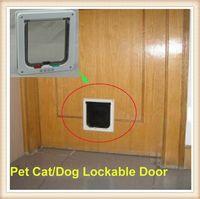 Wholesale Useful Way Small Pet Cat Kitten Dog Supply Lock Lockable Safe Flap Door Cat Pet Flap Door