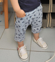D'été de 2015. Garçons Shorts enfants bébé pantalons courts crâne rayures verticales Design Enfants Vêtements Size100-140 livraison gratuite