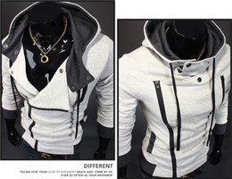 Wholesale prices -Assassin's Creed III 3 Desmond Double Collar Cosplay Costume Hoodie Coat Jacket