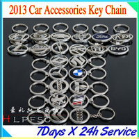 Wholesale Hollow metal car standard automotive supplies Keychain Men creative key chain key ring pendant small gifts with