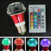 Wholesale MOQ set W RGB color Crystal Led light bulb E Remote Controller flash party