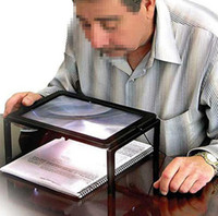 Wholesale A4 Full Page Giant Large Hands Free Magnifying Glass Sheet X Magnifier w Cord