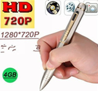 Wholesale New Hidden Design Real P Camera HD Spy Pen Video Recorder with GB Memory