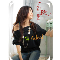 Wholesale Sexy Women s Cotton Trendy OFF Shoulder Top Buttons Blouse Adeal