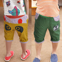 Boy 2-6y Summer 2013 Summer Boys Shorts Children Baby Short Pants Eye Printed Patchwork Design Kids Clothes