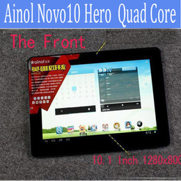 Wholesale 10 quot Quad core Ainol Novo Hero II Android Tablet pc Android IPS Screen GHz CPU RAM GB ROM GB Dual Camera HDMI x800Px