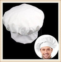 Wholesale Fancy Dress Party Chef hat Baker Cook BBQ Kitchen White Chef Hat