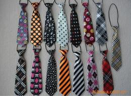 Wholesale Boys Girls Children Ties Fashion Children Silk Necktie Various Satiny Boy Tie Stretch Boys Satin Necktie