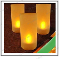 Wholesale LLFA162 LED Blow On Off Candle Yellow LED Light Candle Lights Lamps Cup